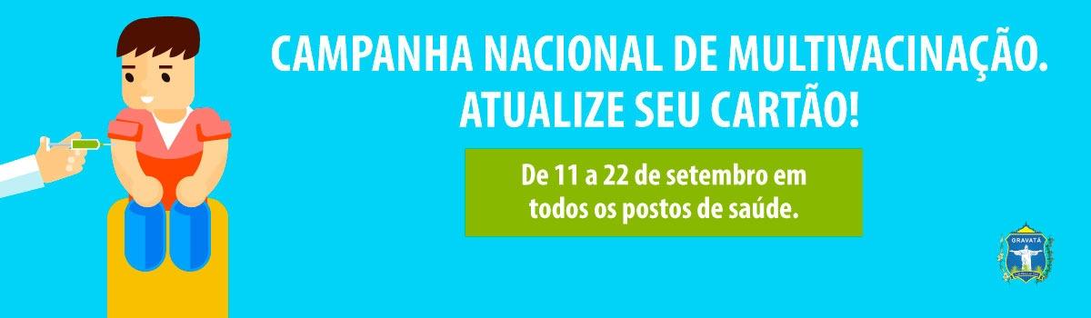Campanha Nacional de Multivacinação para crianças e adolescentes tem início em Gravatá